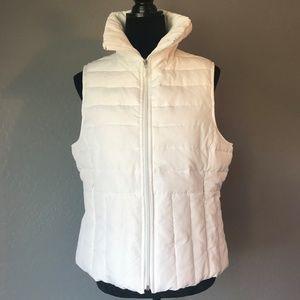 Kenneth Cole Reaction White Zip up Vest, Size L